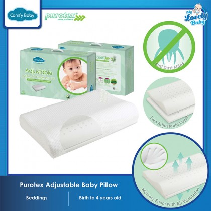 Comfy Baby Purotex Adjustable Baby Pillow