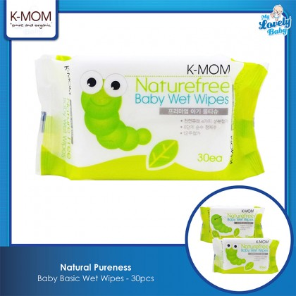 K-Mom Natural Pureness Baby Wet Wipes - 30pcs