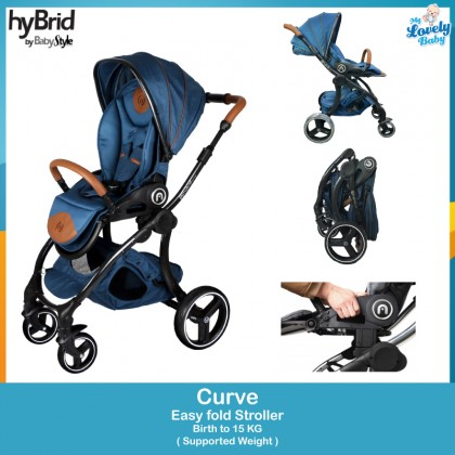 Hybrid By Baby Style Curve Stroller - Blue