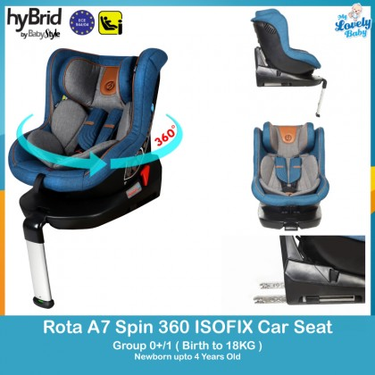 Hybrid By Baby Style Rota A7 Spin 360 Isofix Car Seat