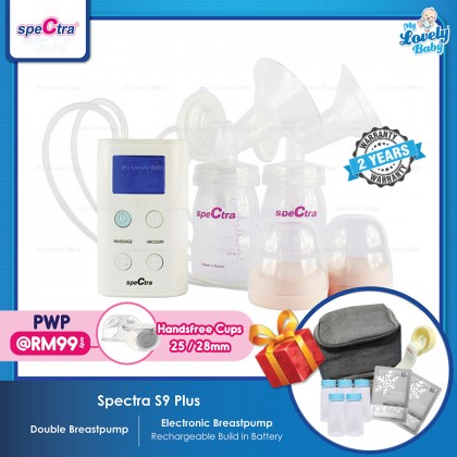 Spectra S9 Plus Double Breastpump (FOC Manual Switch Kit+Ice Packs+Cooler Bag+Storage Bottles) [Optional add on:Handsfree Set @ RM 99]