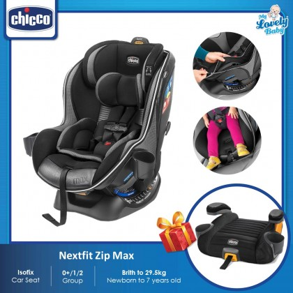 Chicco Nextfit Zip Max Convertible Car Seat (Free GoFit Plus Booster Seat)