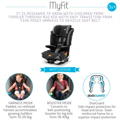 Chicco Myfit Harness Isofix Booster Car Seat