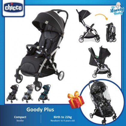 Chicco Goody Plus AutoFold Stroller (FREE Rain Cover)