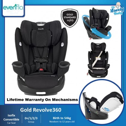 Evenflo Gold Revolve360 Rotational All-In-One Car Seat [Preorder Free Stroller]