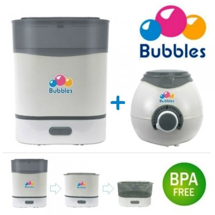 Bubbles Steam Sterilizer + Bottle and Food Warmer